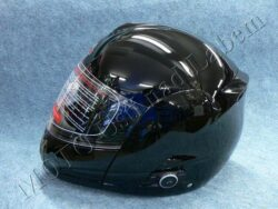 Flip-Up Helmet FU3B - black, bluetooth ( Motowell )