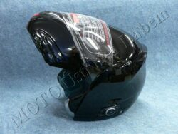 Flip-Up Helmet FU3B - black, bluetooth ( Motowell )  (890216M)