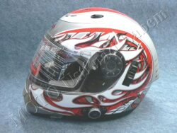 Full-face Helmet FF7 - blaze red, bluetooth ( Motowell )