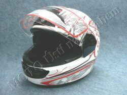 Full-face Helmet FF1 - red flower ( Motowell )  (890096M)