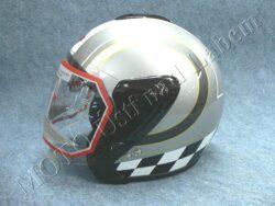 Jet Helmet OF4 - pepita flag ( Motowell )