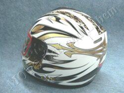 Full-face Helmet FF3 - gold flower ( Motowell )(890160M)