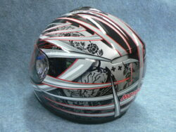 Full-face Helmet FF3 - red trophy ( Motowell )(890168M)