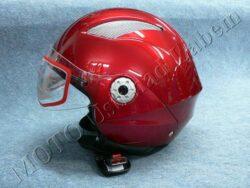Helmet OF6 - retro burgundy ( Motowell ) Size S