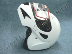 Flip-Up Helmet FU2 - white ( Motowell )