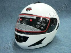Flip-Up Helmet FU2 - white ( Motowell )  (890325M)