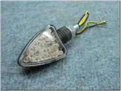 blikač trojúhlý LED [čiré sklo] č.65