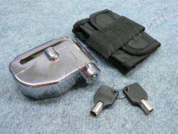 Brake disc lock w/ alarm RMS - chrome ( UNI )