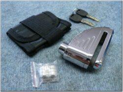 Brake disc lock w/ alarm - chrome ( TOKOZ )