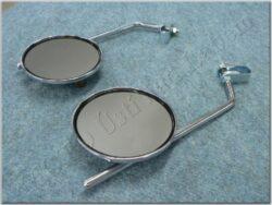Rear view mirror assy. R.+L. circle M8x1,25 RH, SM-811 ( UNI )