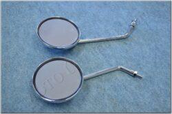 Rear view mirror assy. R.+L. circle M8x1,25 RH ( UNI )