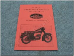 Spare parts catalogue - crossing type ( Jawa 125/351,150/352 )