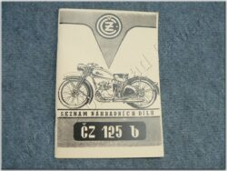 Spare parts catalogue ( ČZ 125 B )
