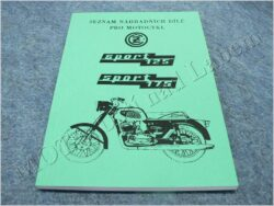 Spare parts catalogue ( ČZ 125/476,175/477 SPORT )