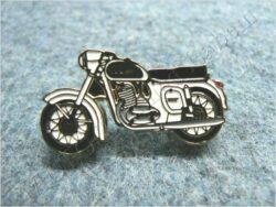 "Pin badge JAWA 350 / 354 ""Kyvacka"" white"