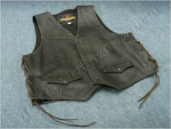 Leather vest HEROS black - Size 46