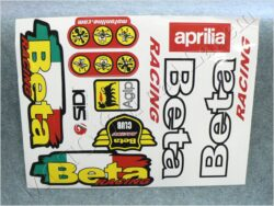 Sticker BETA RACING sheet - red/yellow/green