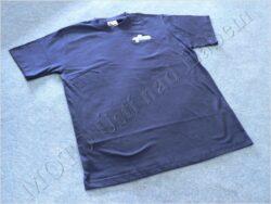 T-shirt blue w/ picture ČZ scooter