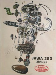 Poster - engine drawing ( Jawa 350 - 354/06 )