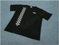 T-shirt black w/ logo MZ & checkered pattern
