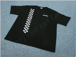 T-shirt black w/ logo SIMSON & checkered pattern
