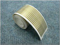 Sticker gold lines ( UNI ) 1,5x1500 mm