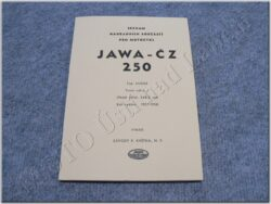 Spare parts catalogue ( JAWA-ČZ 250/353 ) ym. 1957-58
