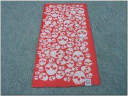 Multi-scar Comfy Skulls ( OXFORD ) red