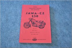Spare parts catalogue ( JAWA-ČZ 250/353 ) ym. 1954
