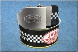belt JAWA / textile black checkerboard - size 150cm