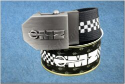 belt MZ / textile black checkerboard - size 150cm