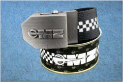 belt MZ / textile black checkerboard - size 150cm