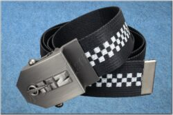 belt MZ / textile black checkerboard - size 150cm(930822)