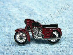 "Pin badge JAWA 350 / 354 ""Kyvacka"" red"