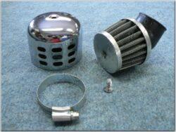 Air filter racing  D32 - 45°, intake, w/ cover ( UNI,Jawa,ČZ ) cone little(990480)