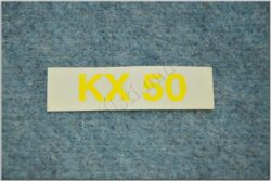sticker  KX 50 small yellow